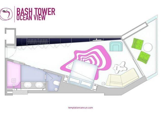 Temptation Cancun Resort Bash Tower Ocean View
