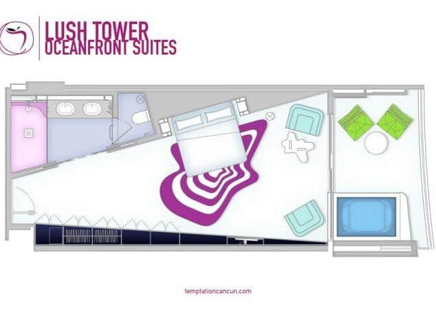 Temptation Cancun Resort Lush Tower Oceafront Suites
