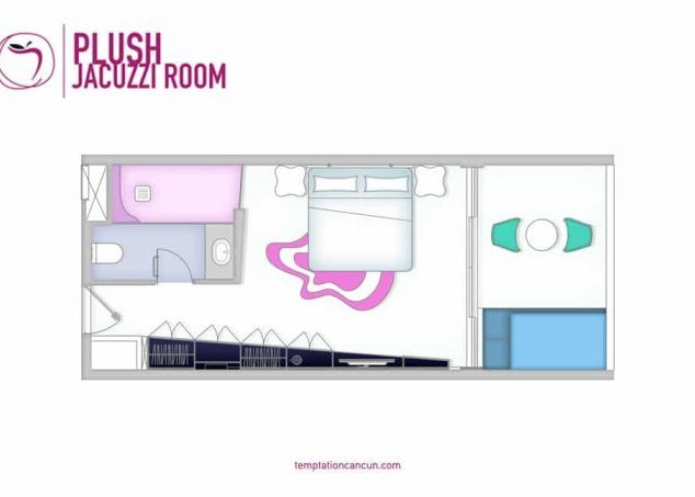 Plush Jacuzzi Room Pool View